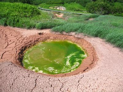 Вот такое вулканическое чудо-юдо. Камчатка озеро природа скалы
