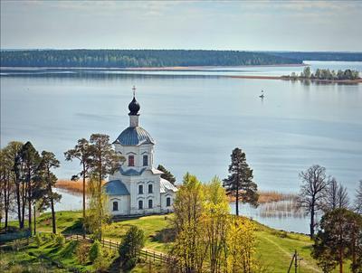 *** Тверская область весна Селигер остров монастырь озеро