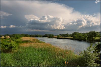 А где то дождь... Р.Оскол, река Оскол, лето, летний пейзаж