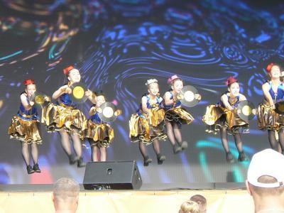 Дружный прыжок Новоуральск парк лето танцы детские коллективы