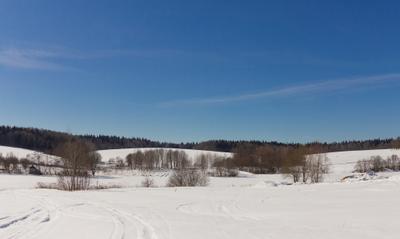 *** небо снег