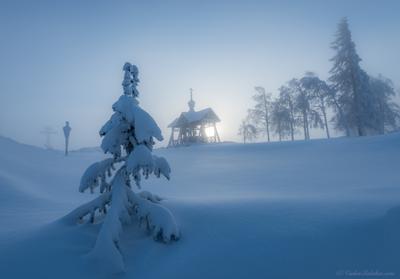 Маленькой елочке... белогорский монастырь пермь зима мороз снег