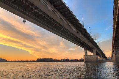 *** Мост, Уфа, Белая, рассвет