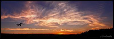 Рисуют небо самолеты небо самолет облака закат
