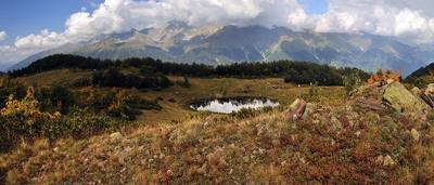 Хмелевские озера Красная Поляна, озера Хмелевские, горы, озеро