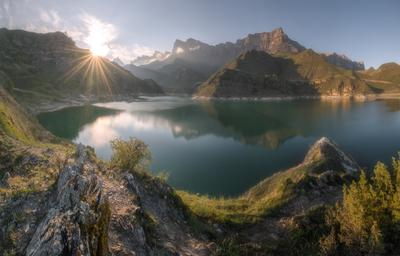 Кабардино-Балкария. Гижгит. Кавказ кабардино-балкария гижгит весна закат озеро