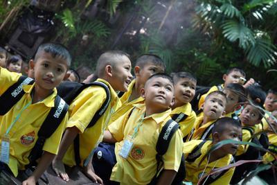 Тайчата) Тайланд детки зоопарк шоу зверей као кео