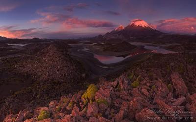 Невадос де Пайячатас Cota Cotani Lagoons Parinacota Volcano Pomerape Lauca Biosphere Reserve Chile