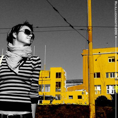 Майами Бич Жёлтый, город, солнце.