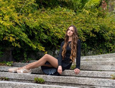 Анна девушка парк портрет лето Сочи samitфотосайт summer брюнетка