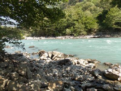 река в тени