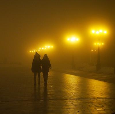 Вечерний туман Вечер туман мороз уфа