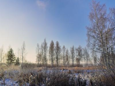 Мороз зима снег пейзаж