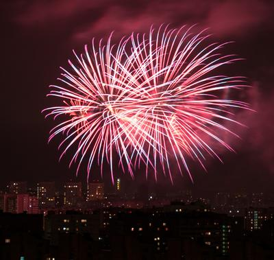 Салют салют ночь город огни фейерверк