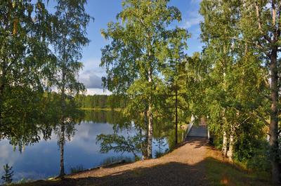 *Скоро осень, за окнами август,..* (2) осень скоро мостик озеро Финляндия Finland