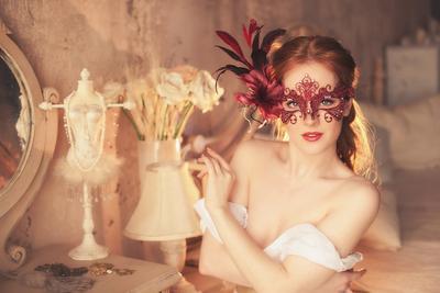 будуарная будуар, портрет, маска