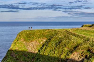 Данноттар море берег небо Шотландия