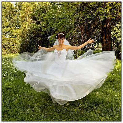 Динамика.... невеста, свадьба, вращение