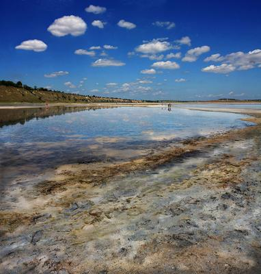 """""""грязьный"""" пейзаж Будакский лиман, соль, лечебная грязь, процедуры, грязелечение, отдыхающие, лето"""