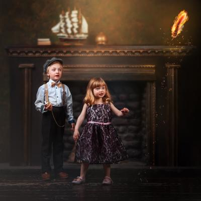 Лев и Эрика Стрит детский портрет фотосессия концептуальное