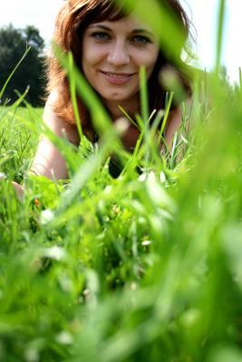 summer heat лето, портрет, трава, зелень