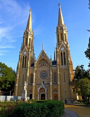 Церковь св. Елизаветы династии Арпадов в Будапеште архитектура будапешт венгрия город готика достопримечательность европа здание путешествие храм церковь