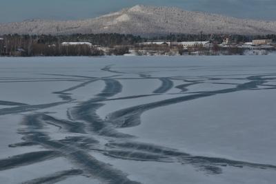 все дорожки ведут к горам горы зима озеро дорожки
