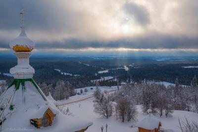Его Свет... белогорский монастырь пермь зима мороз снег