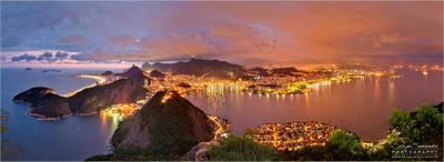 Rio. Night view from Shugar Loaf. Рио, Rio