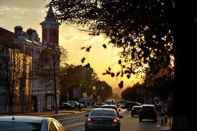 Улица Ленина город вечер Ульяновск