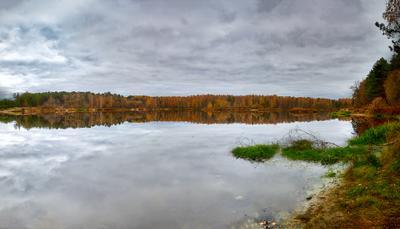 Мечта рыбака озеро Осень