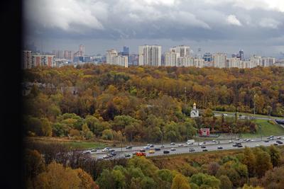 Осень в Москве Россия Москва МКАД Осень Октябрь Панорама