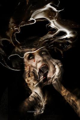 Темная сторона души женский портрет