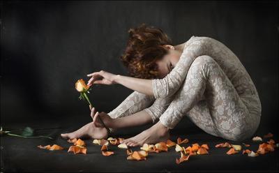 Гадалка (автопортрет с розами))