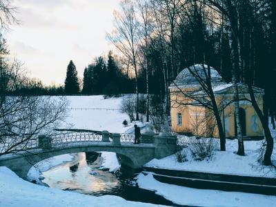 Зимний закат... зима закат парк