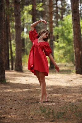 Танец прошедшего лета портрет девушка модель