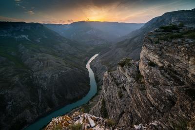 Проводы дня Сулакский каньон Дагестан