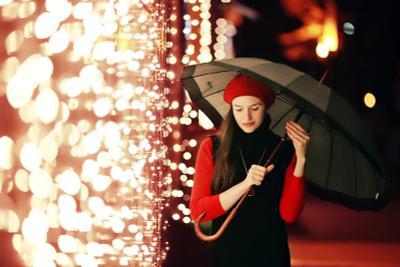 Light rain девушка портрет