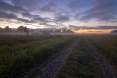 Перед рассветом туман рассвет утро пейзаж волчанск