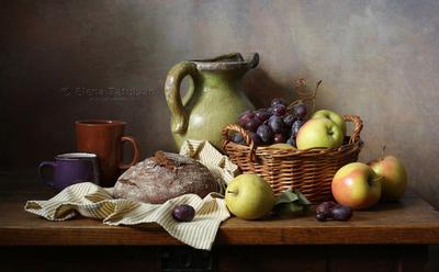 Компот и фрукты фрукты хлеб виноград компот