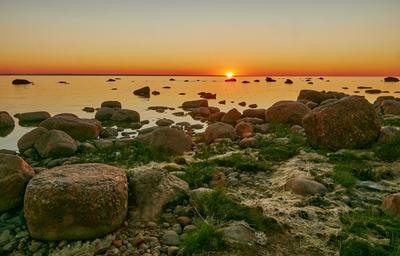 Рассвет на финском заливе рассвет