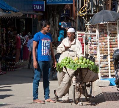 Уличный торговец индия, бангалор