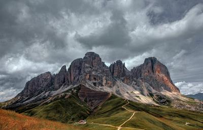 Сассолунго. Langkofel Group. Доломитовые Альпы.
