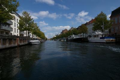 Улицы Копенгагена канал Копенгаген город