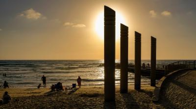 На закате... Хайфа море