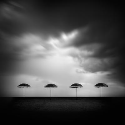 Four umbrellas ukraine landscape skadovsk rain storm four umbrellas longexposure
