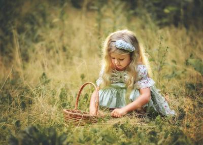 Дюймовочка Девочка дюймовочка ребёнок плетёная корзина