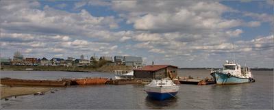 *** весна май река кама станция лодочная
