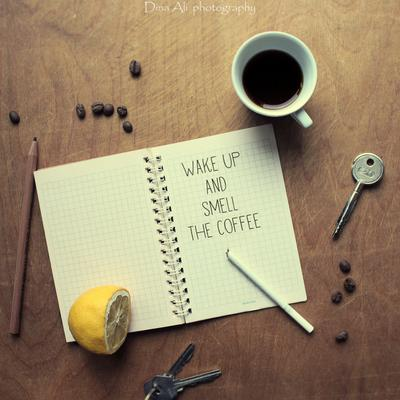 * кофе