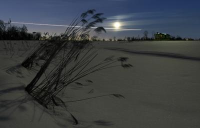 *** ночь луна зима длинная выдержка